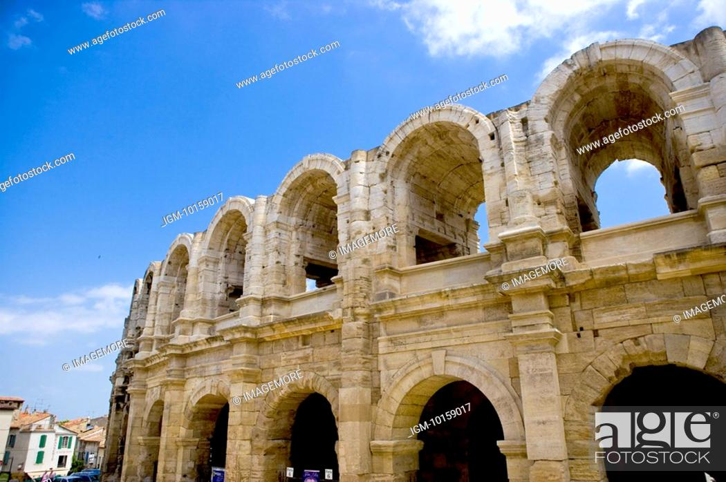 Stock Photo: Arles, France, Exterior of the Arles antique Roman amphitheater's.