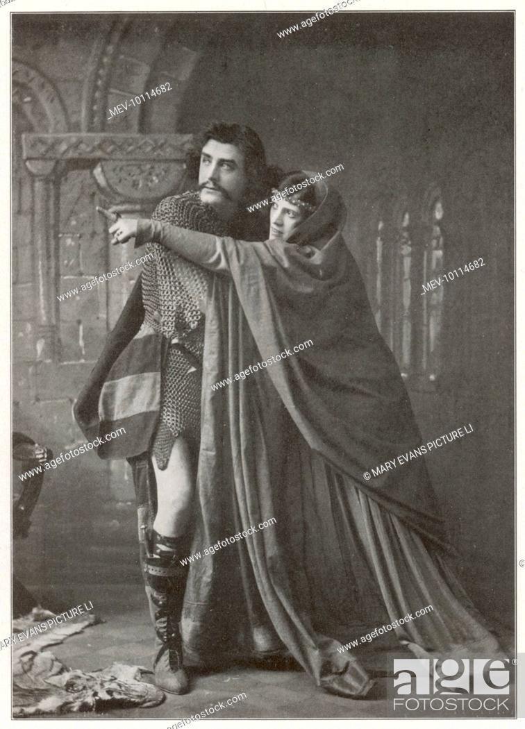 Stock Photo: Matheson Lang as Macbeth & Hilda Britton as Lady Macbeth.