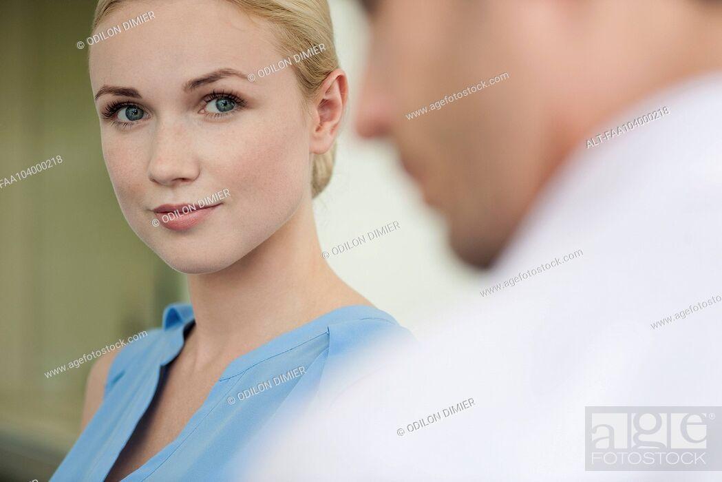 Stock Photo: Businesswoman, portrait.
