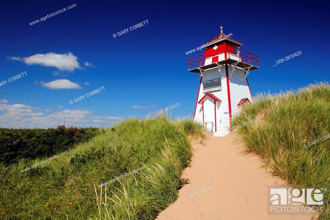 Stock Photo: Covehead Lighthouse in Prince Edward Island Canada.