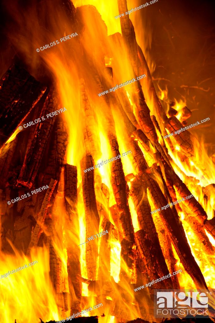 Stock Photo: Bonfire celebrations of Easter in Germany.