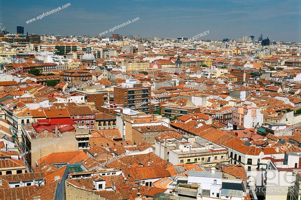 Stock Photo: Spain - Madrid - View of old Madrid.