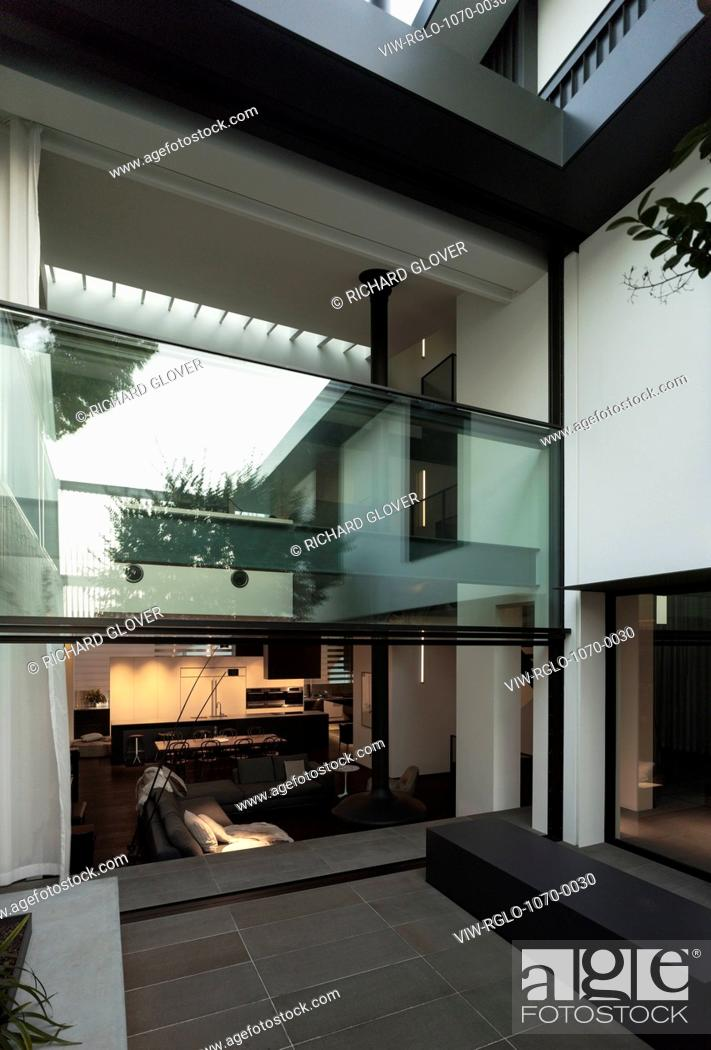 Courtyard And Double Height Movable Glass Wall W House Sydney Australia Stock Photo Picture And Rights Managed Image Pic Viw Rglo 1070 0030 Agefotostock