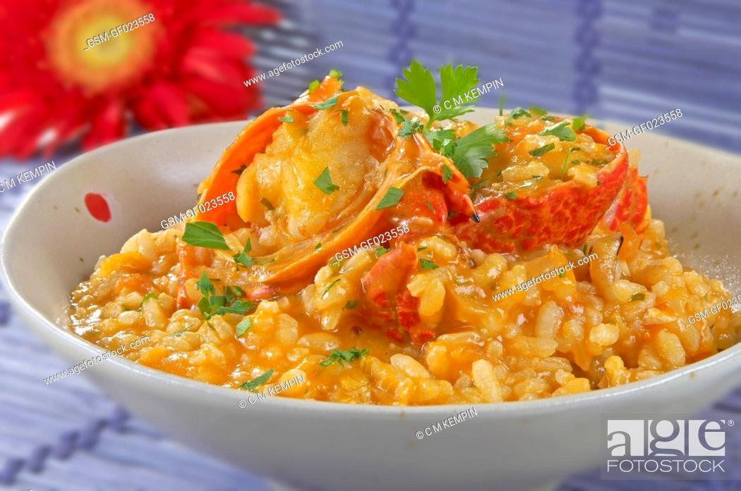 Imagen: Rice with lobster.