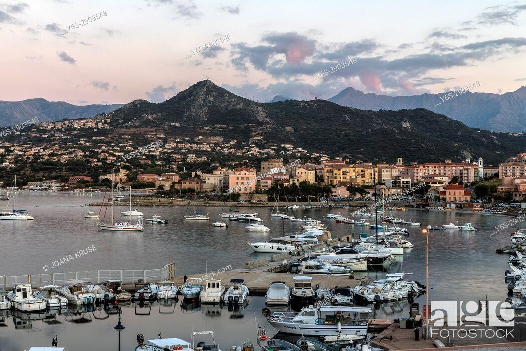 Stock Photo: L'ile Rousse, Balagne, Corsica, France.