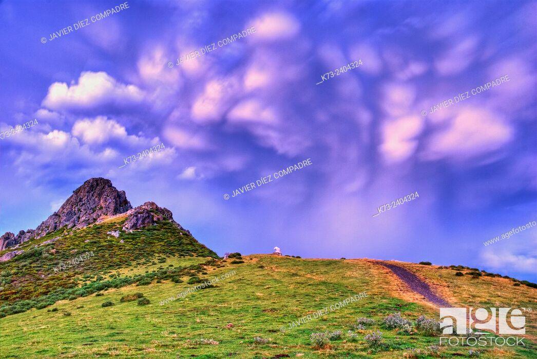 Stock Photo: Monument to Bear. Collado de Llesba. Picos de Europa National Park. Cantabria. Spain.