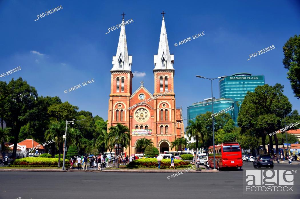 Stock Photo: Notre Dame Cathedral, Ho Chi Minh City, Vietnam.