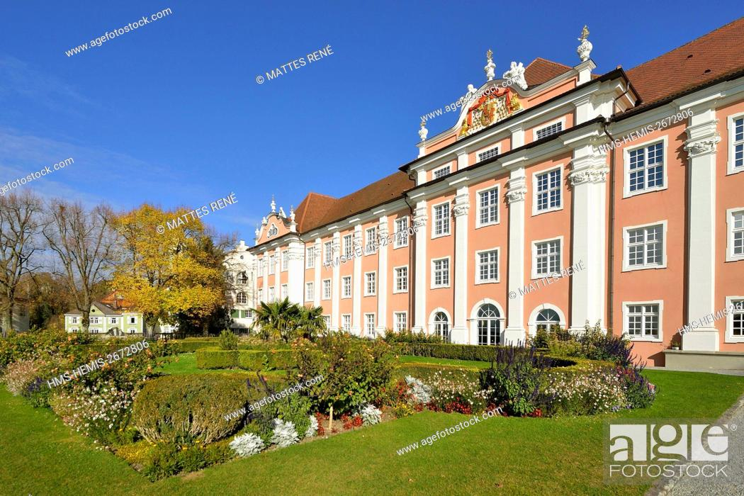 Stock Photo: Germany, Baden Wurttemberg, Lake Constance (Bodensee), Meersburg, Neues Schloss (New castle).