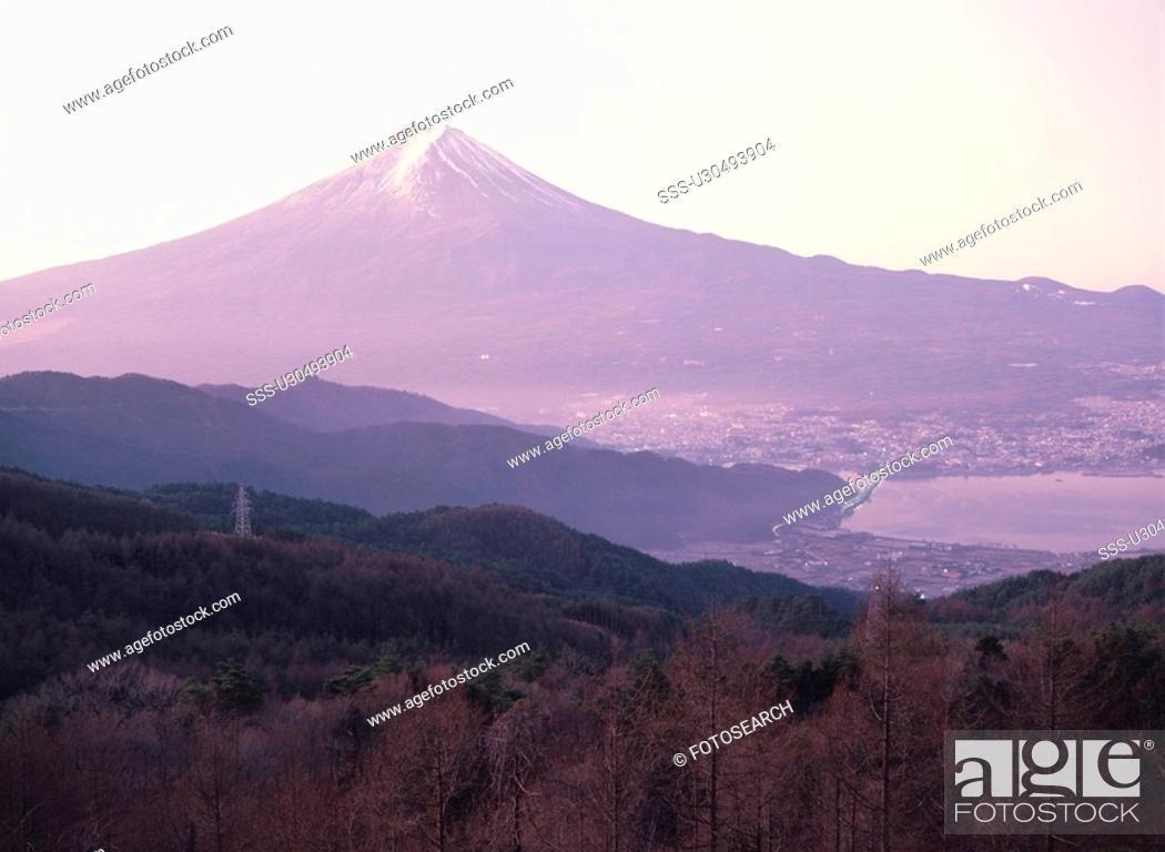 Stock Photo: Mt. Fuji In Yamanashi Prefecture.