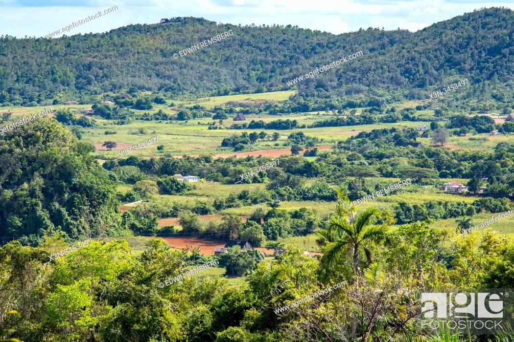 Imagen: Farmland tucked away in Vinales Valley , Vinales, Cuba.