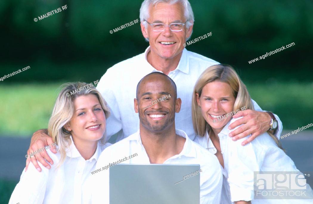 Stock Photo: Lifestyle, Team work, Satisfaction.