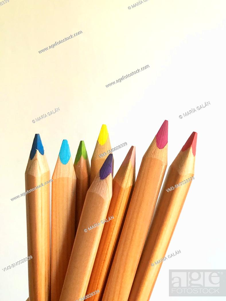 Stock Photo: Color pencils.