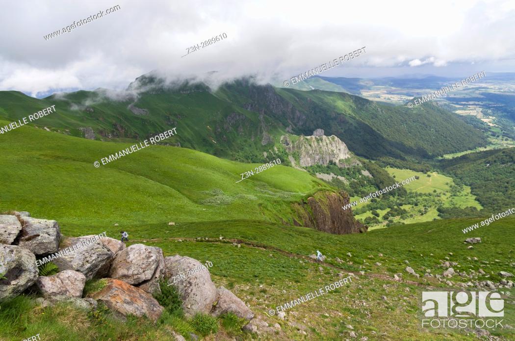 Stock Photo: Sancy massif, Massif central, volcanoes, Auvergne, France.