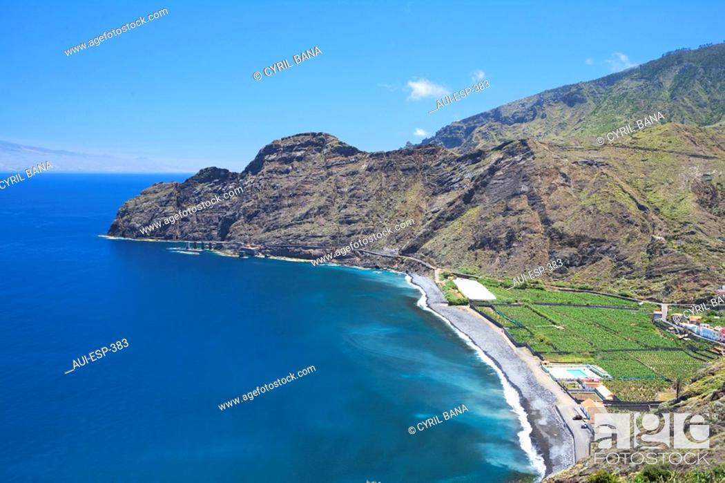 Stock Photo: Spain - Canary Islands - La Gomera - Agulo - Playa de Santa Catalina.