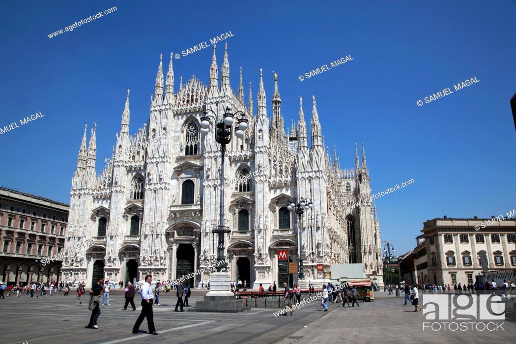 Photo de stock: The Cathedral of Milan is in Gothic and neo-Gothic style, for the Gothic west front was begun in 1616 and completed just 200 years later.