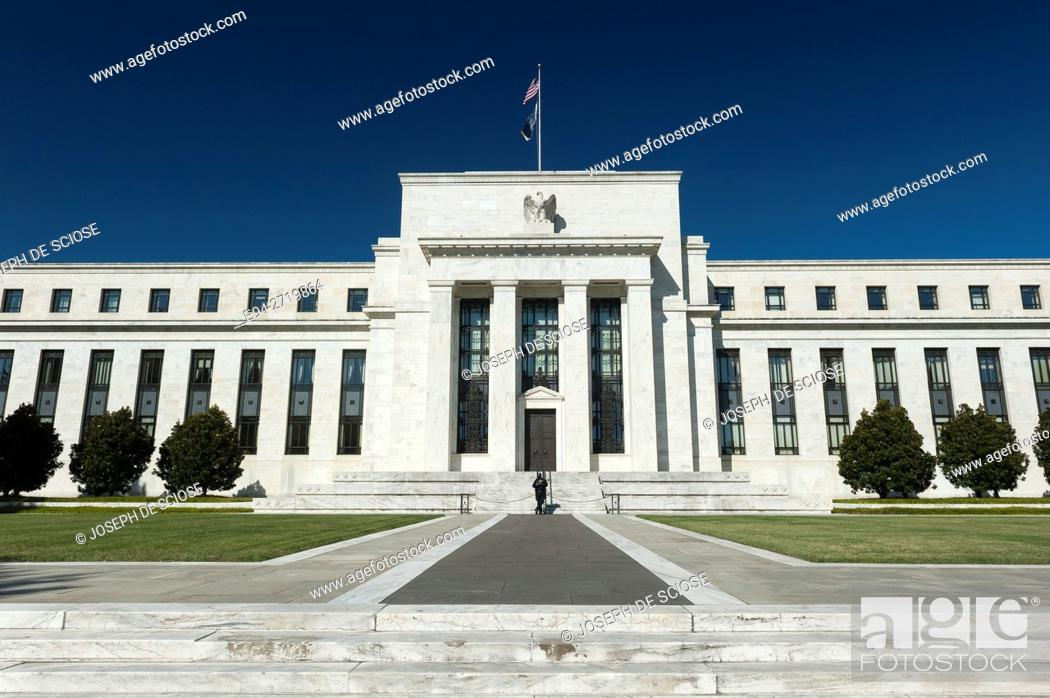 Stock Photo: The Federal Reserve Building, Washington DC, USA.