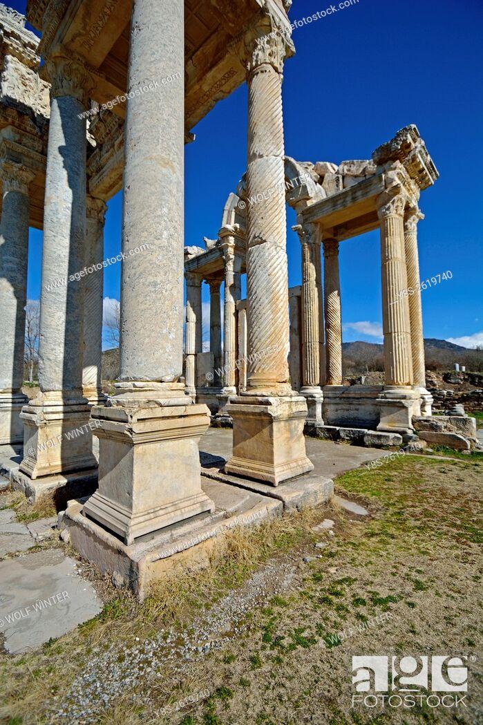 Stock Photo: Museum of Aphrodisias. Tetrapylon.