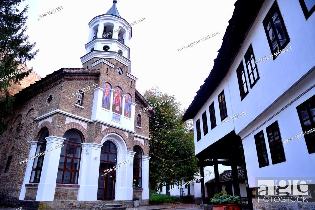 Stock Photo: Church of St. Archangel Michael in Dryanovo monastery, Central Bulgaria.