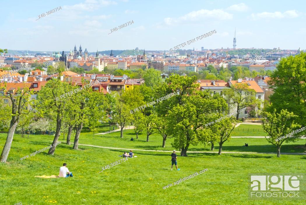 Stock Photo: Petrinske sady, Petrin hill park, Prague, Czech Republic.