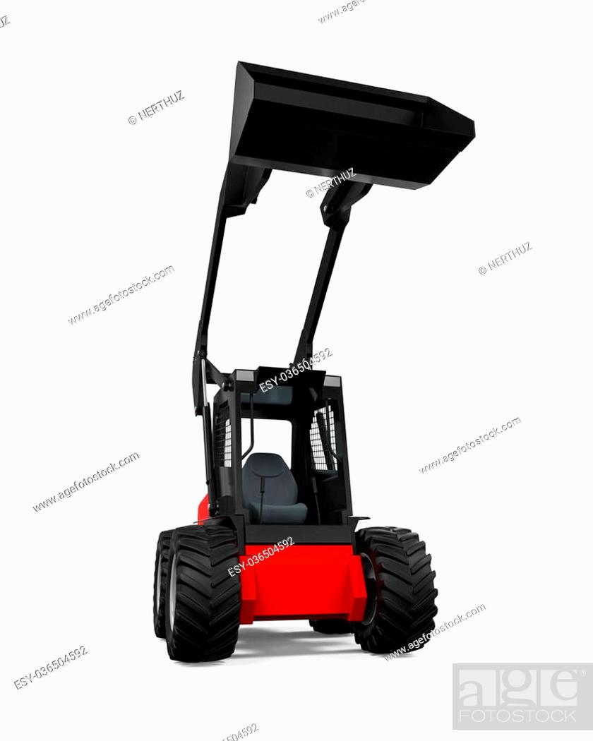 Stock Photo: Tractor Loader isolated on white background. 3D render.