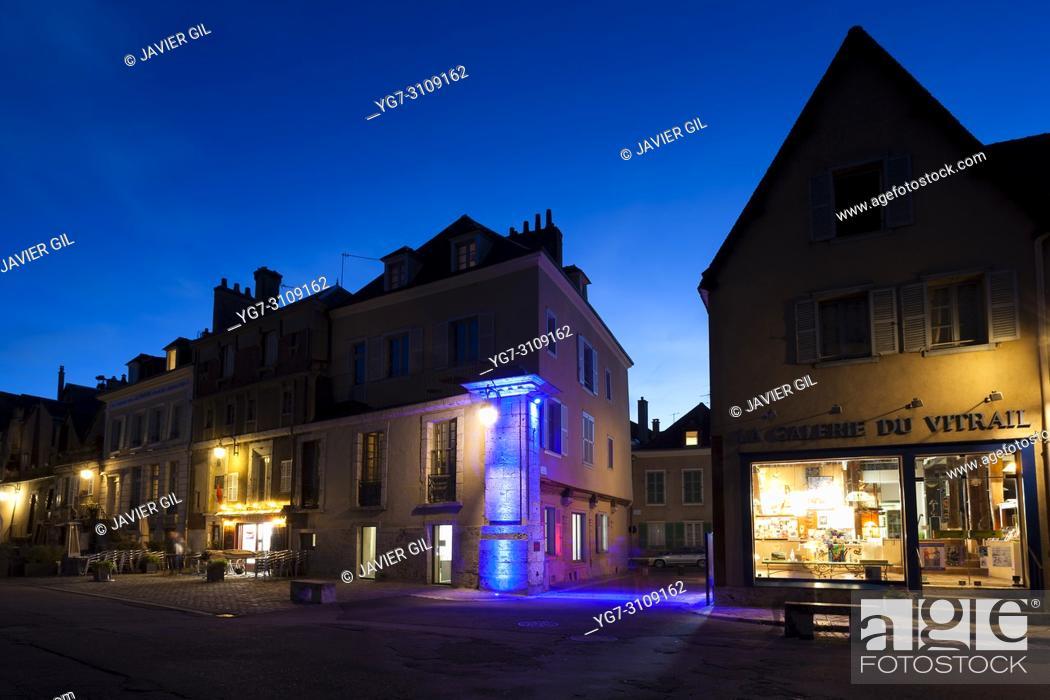 Stock Photo: Street of Chartres, Eure-et-Loir, Centre-Val de Loire, France.