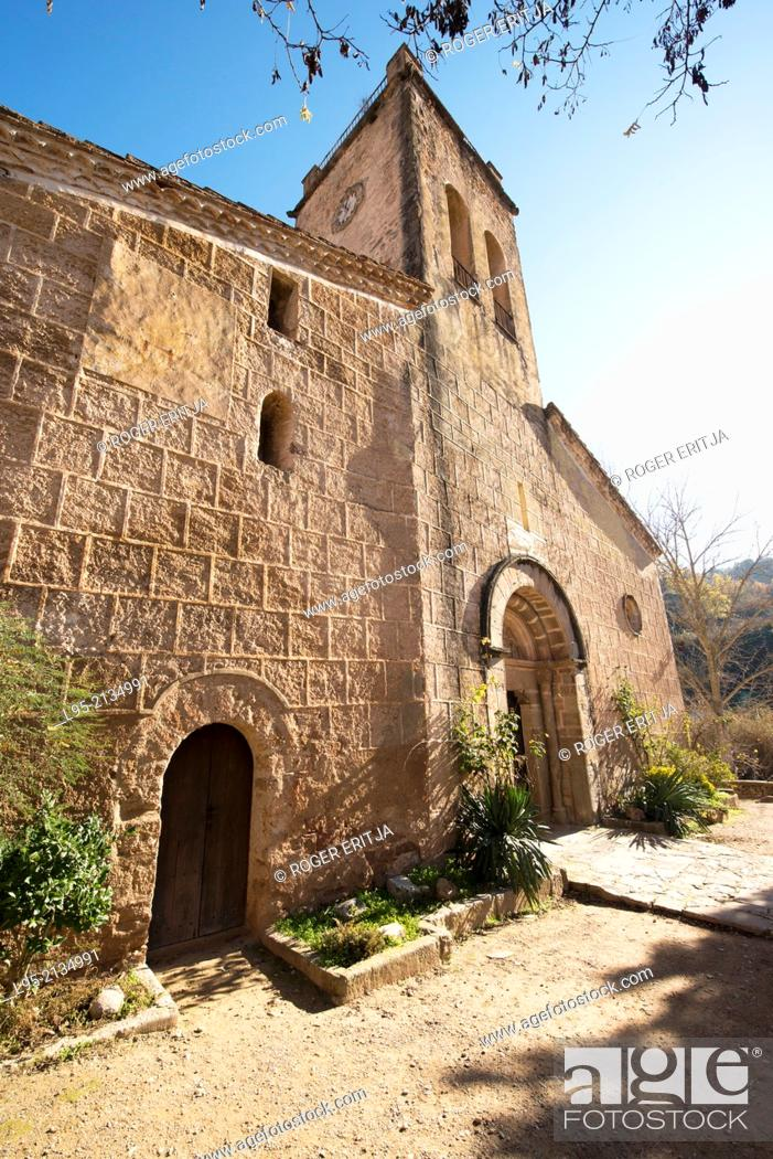 Stock Photo: Church of Sant Martí, Mura, Spain.
