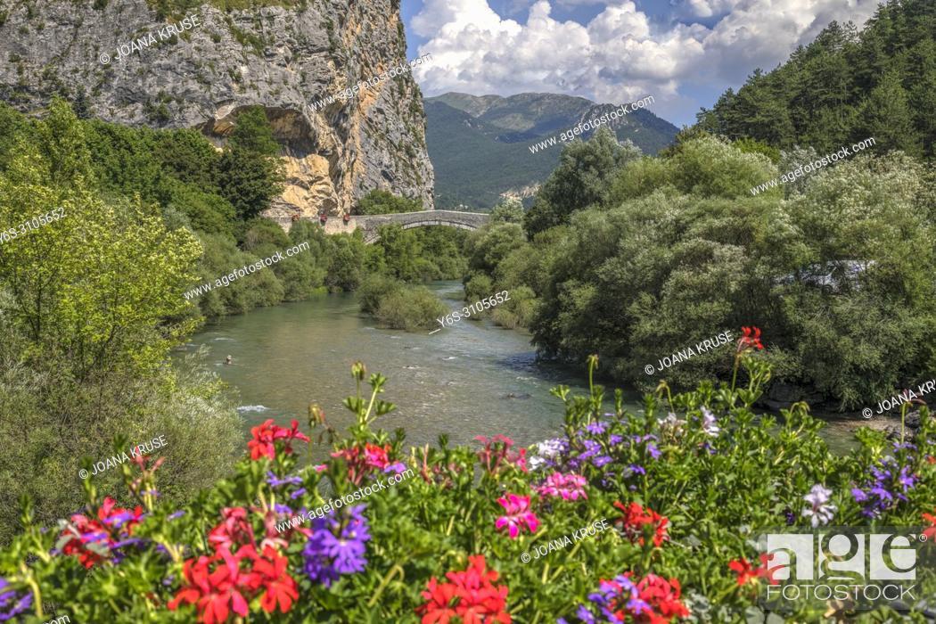 Stock Photo: Castellane, Alpes-de-Haute-Provence, Provence, France.
