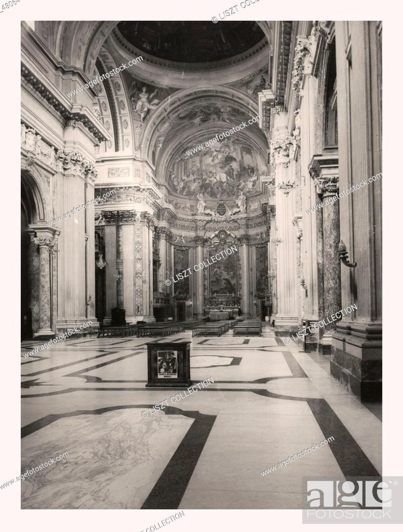 Stock Photo: Lazio Roma Rome S. Ignazio di Loyola, this is my Italy, the italian country of visual history, Church was built 1625-50, based on a project by Maderno.