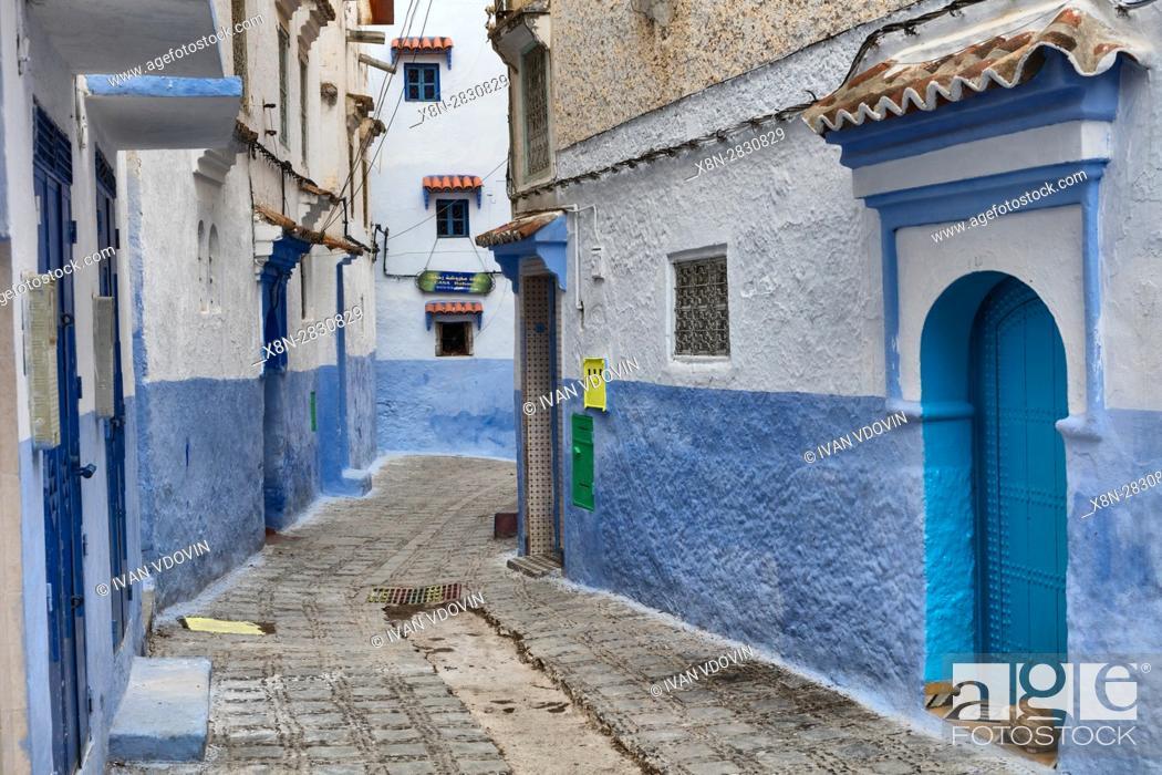 Stock Photo: Medina, old town, Chefchaouen, Chaouen, Morocco.