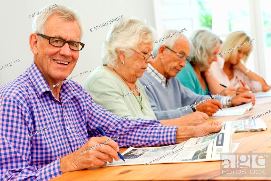 Stock Photo: Senior people.