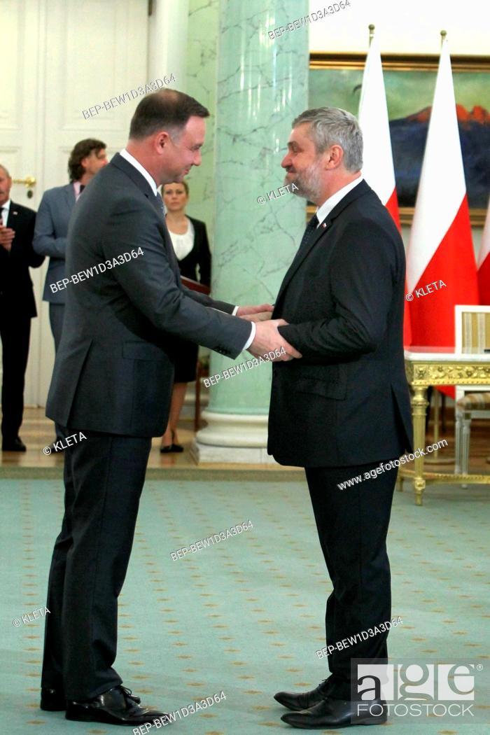 Stock Photo: Jan Krzysztof Ardanowski - polish politician, Minister of Agriculture and Rural Development.