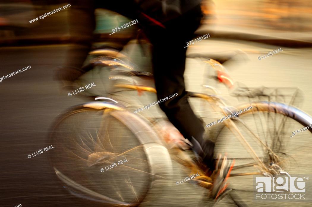 Stock Photo: Cyclist.