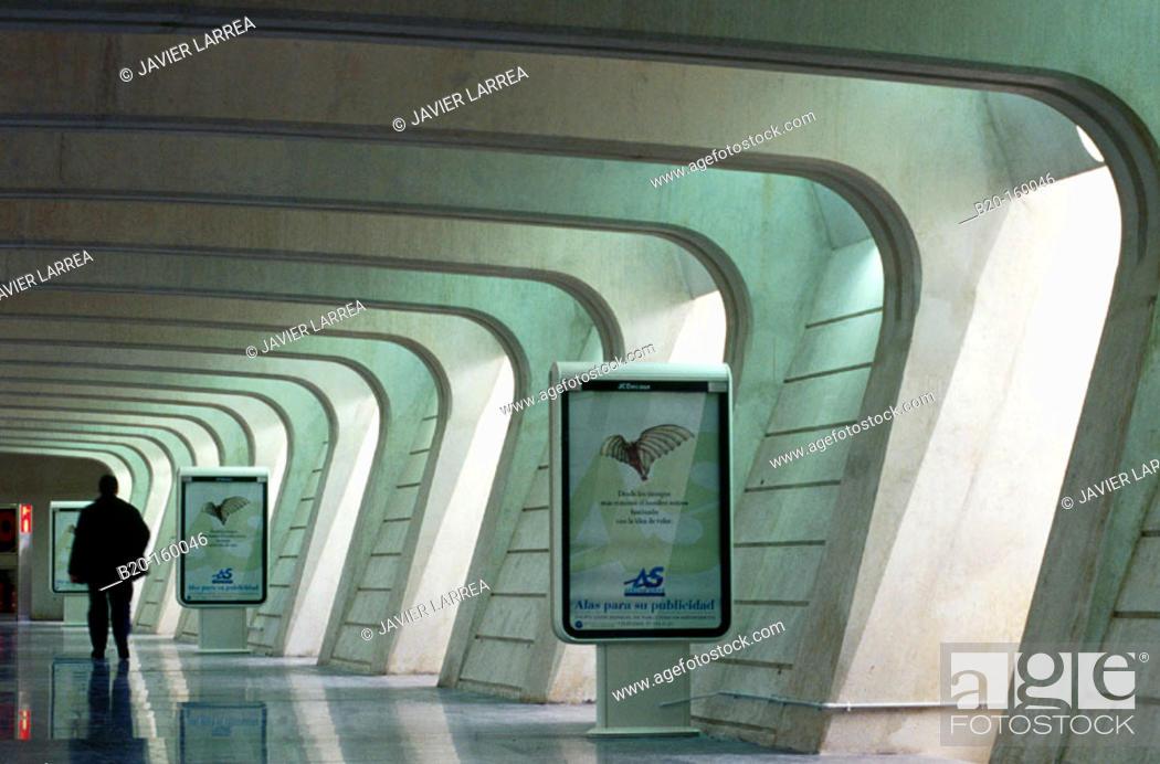 Stock Photo: Parking access. Bilbao airport, by Santiago Calatrava. Bilbao. Euskadi. Spain.
