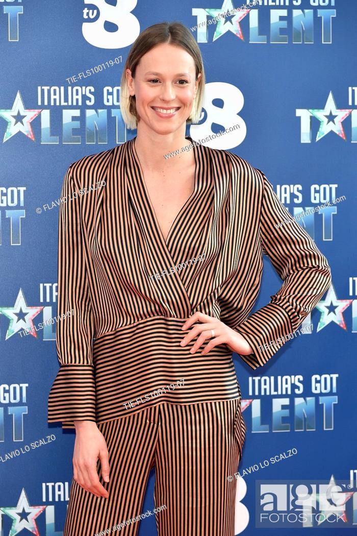 Imagen: Swimmer Federica Pellegrini during the photocall of tv show Italia's Got Talent, Milan, ITALY-10-01-2019.