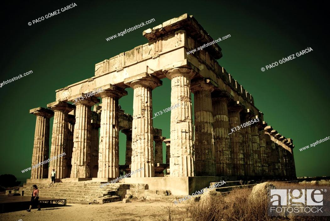 Stock Photo: Greek Temple of Selinunte Sicily Italy.