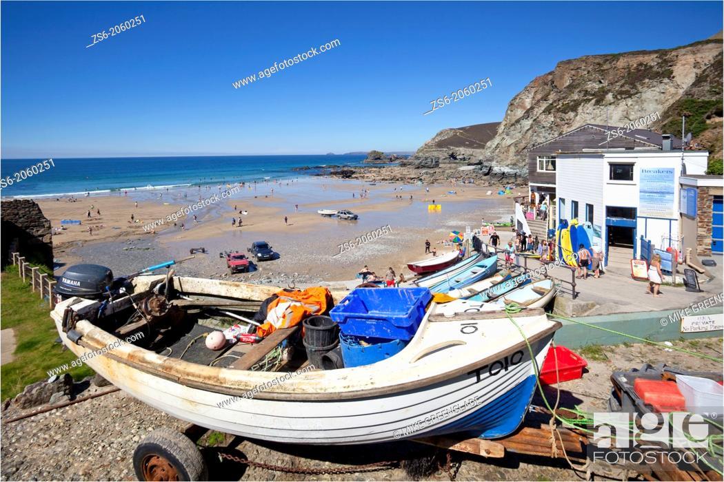 Imagen: Trevaunance Cove, St Agnes, Cornwall, UK.