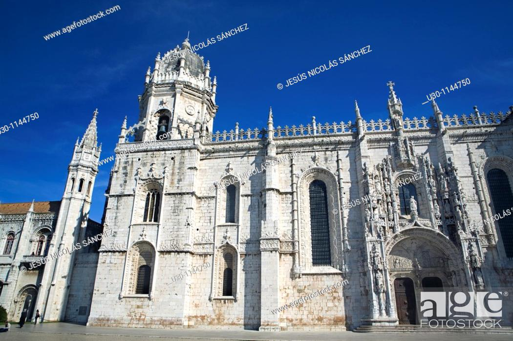 Stock Photo: Monastery of St Jeronimo Hieronymite Monastery, in Belem, Lisbon city  Portugal.