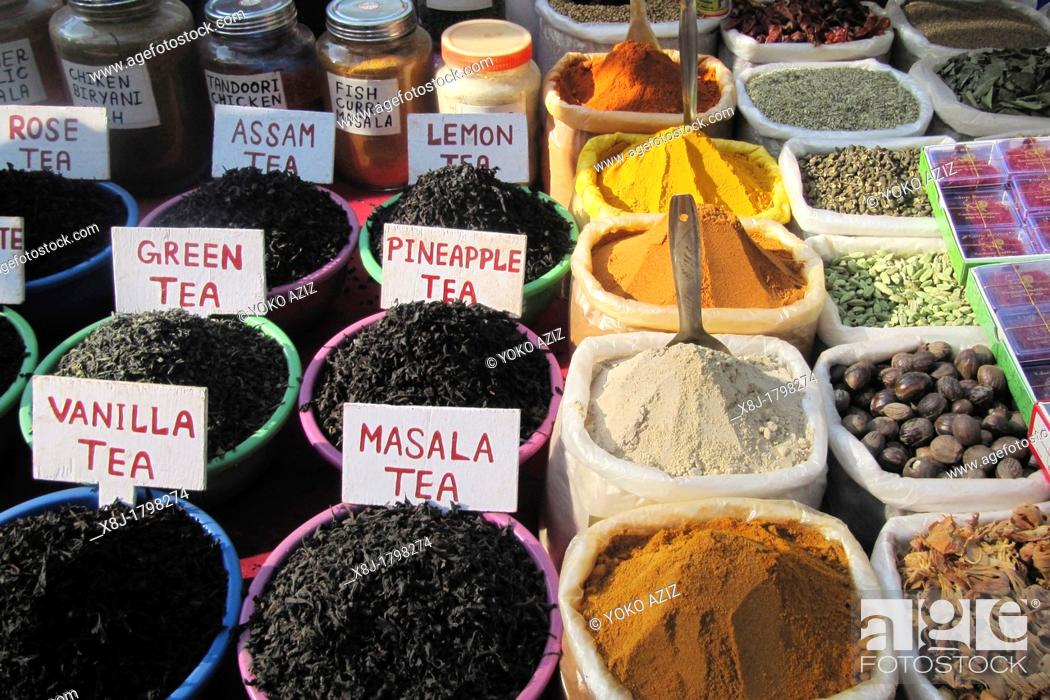Stock Photo: India, Goa region, Goa, Anjuna beach, spices.