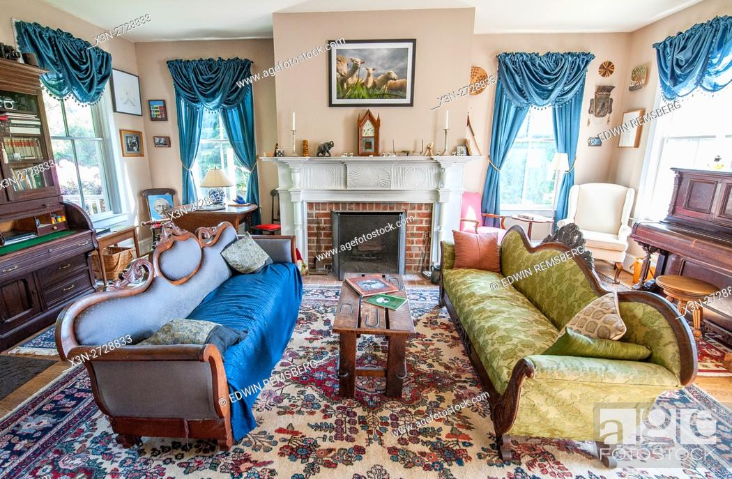 Victorian Style living room, Stock Photo, Picture And Rights ...