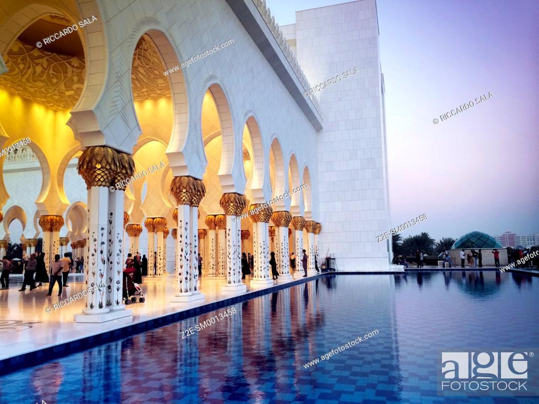 Photo de stock: United Arab Emirates. Abu Dhabi, Sheikh Zayed Grand Mosque.