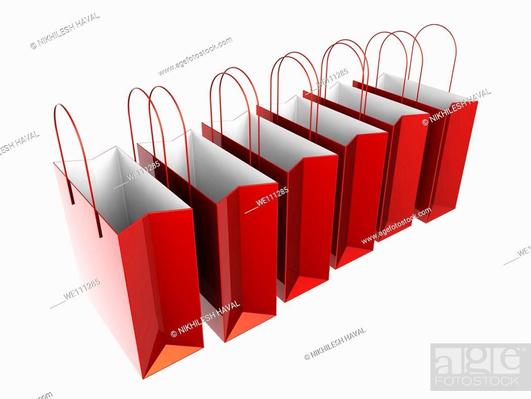Stock Photo: Paper shopping bag.