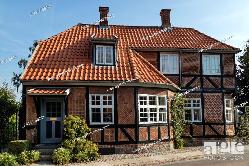 Photo de stock: Traditional built house in the city of Faaborg, Denmark.