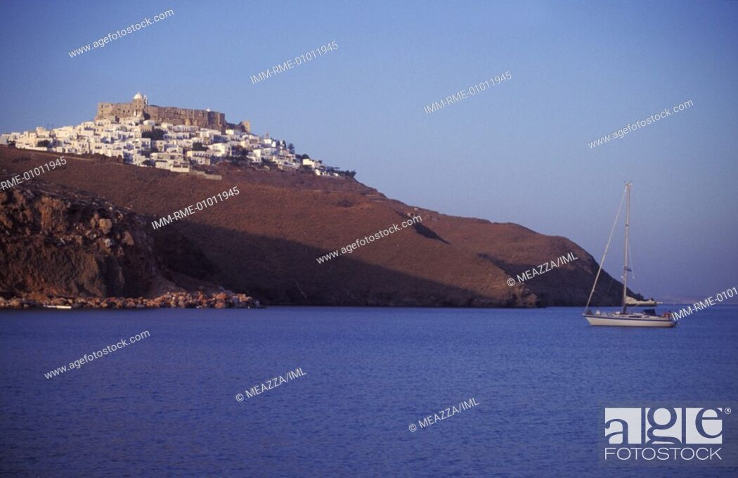 Stock Photo: View of the Hora  Astypalea, Dodecanese, Greece.