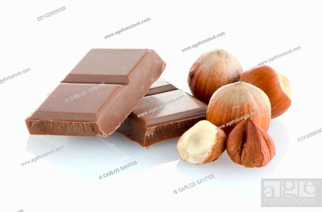 Stock Photo: Chocolate parts.