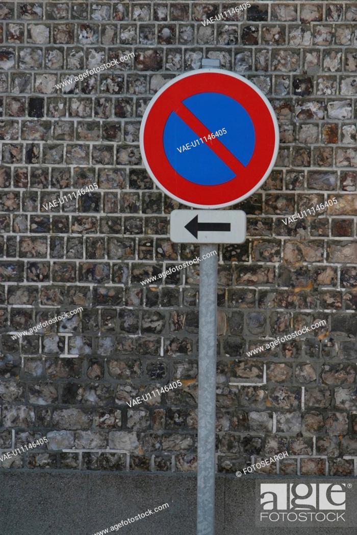 Stock Photo: signboard, indication, information, informative, blue, arrow.