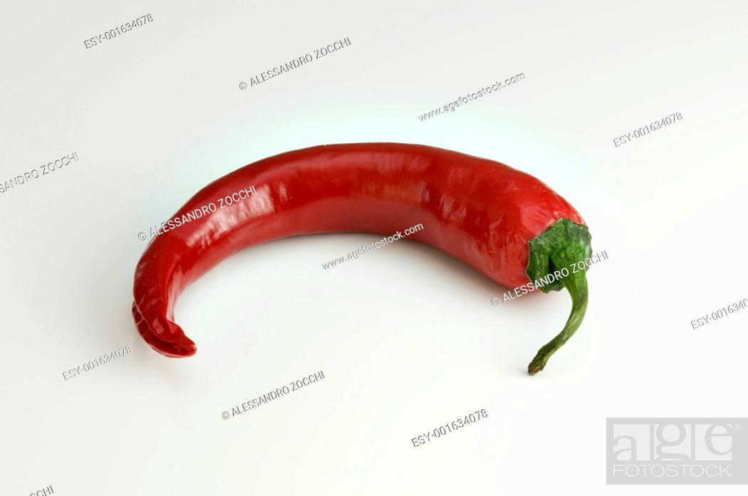 Stock Photo: Red hot chili pepper for spicy food.