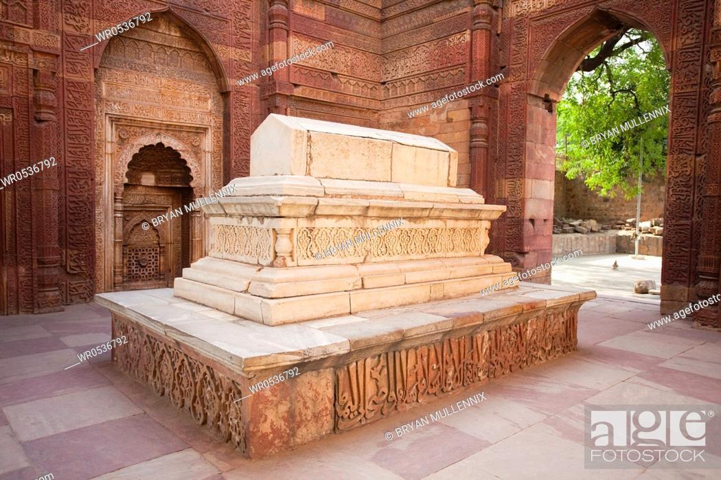 Stock Photo: Stone Tomb of Iltutmish in India.