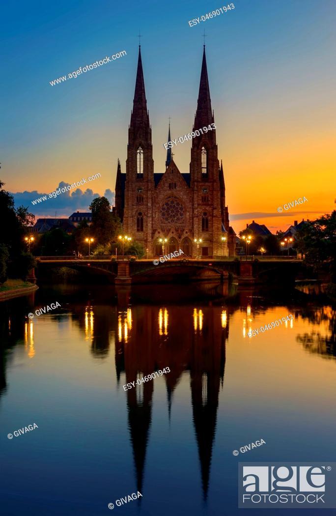 Stock Photo: Church in Strasbourg.
