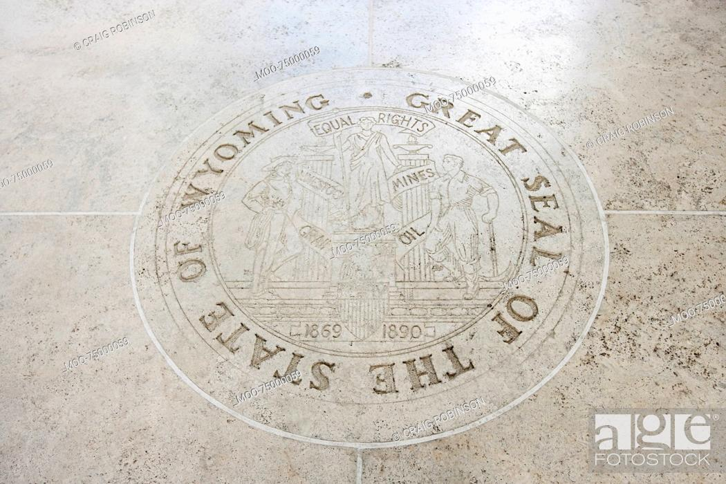 Stock Photo: Great Seal of the State of Wyoming in Fort Bonifacio, Manila, Philippines.