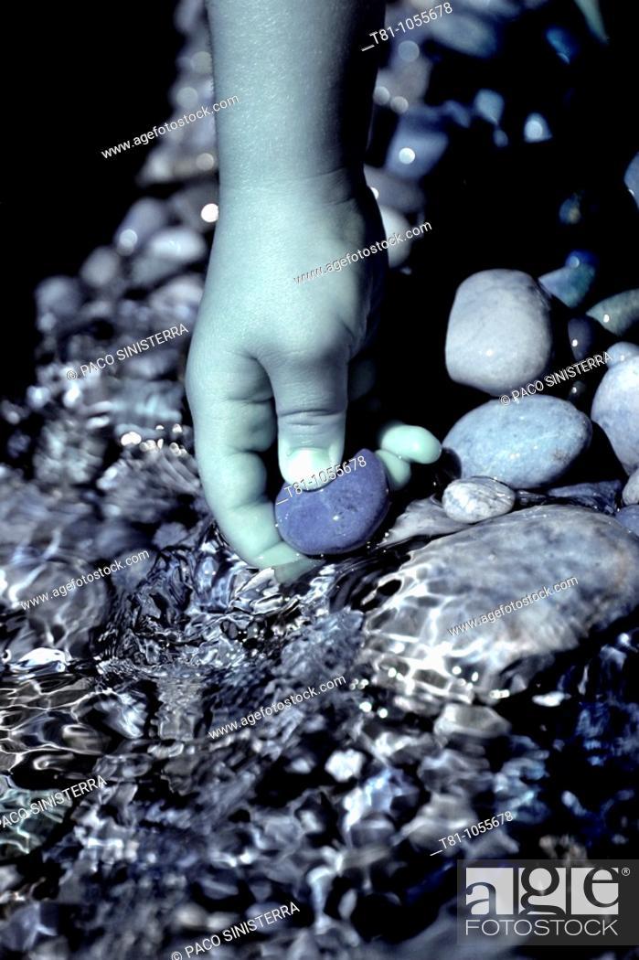 Stock Photo: stone hand.